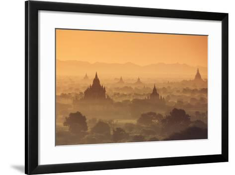 Myanmar (Burma), Temples of Bagan (Unesco World Heritage Site)-Michele Falzone-Framed Art Print