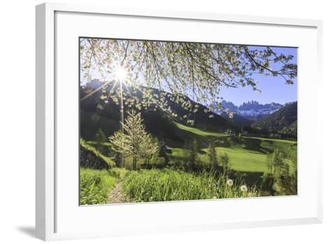 St. Magdalena and the Odle Group. Funes Valley South Tyrol Dolomites Italy Europe-ClickAlps-Framed Art Print