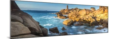 Ploumanach Lighthouse, Cote De Granit Rose, Cotes D'Amor, Brittany, France-Peter Adams-Mounted Photographic Print
