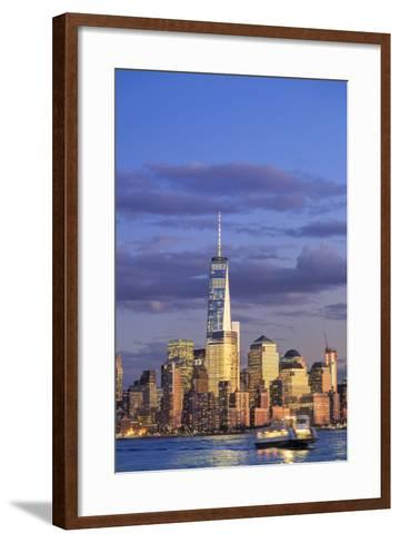 Usa, New York, New York City, Lower Manhattan Skyline-Michele Falzone-Framed Art Print