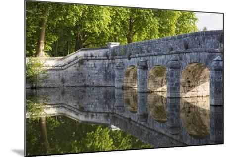 Old Stone Bridge Reflecting in River Cosson at Chateau Chambord, Loire Valley, France-Brian Jannsen-Mounted Photographic Print