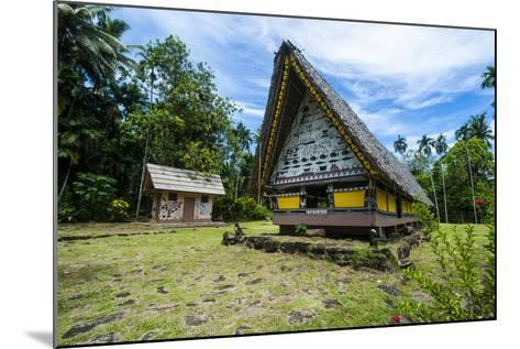Oldest Bai of Palau, House for the Village Chiefs, Island of Babeldaob, Palau, Central Pacific-Michael Runkel-Mounted Photographic Print