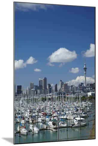 Westhaven Marina, and Sky Tower, Auckland, North Island, New Zealand-David Wall-Mounted Photographic Print