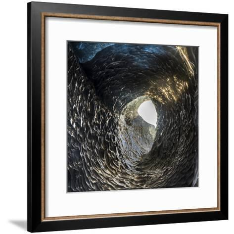 Ice Cave in the Glacier Breidamerkurjokull in Vatnajokull National Park. Entrance to the Ice Cave-Martin Zwick-Framed Art Print