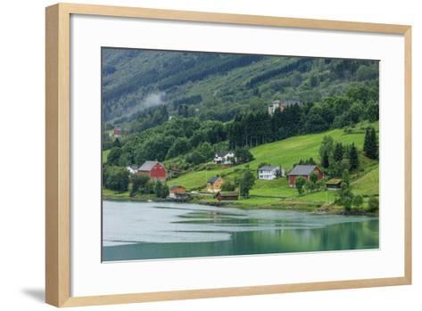 Buildings. Architecture. Olden, Norway-Tom Norring-Framed Art Print