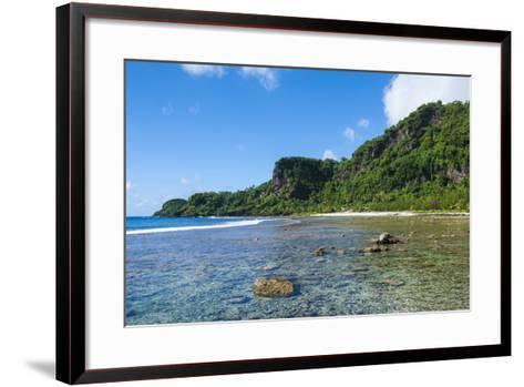 Bay and Turquoise Water in Tau Island, Manu'A, American Samoa, South Pacific-Michael Runkel-Framed Art Print