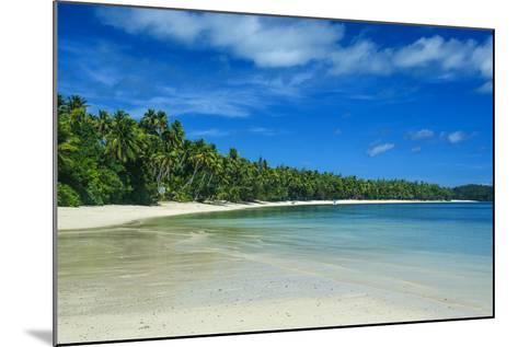 White Sand Beach and Turquoise Water at the Nanuya Lailai Island, the Blue Lagoon, Yasawa, Fiji-Michael Runkel-Mounted Photographic Print
