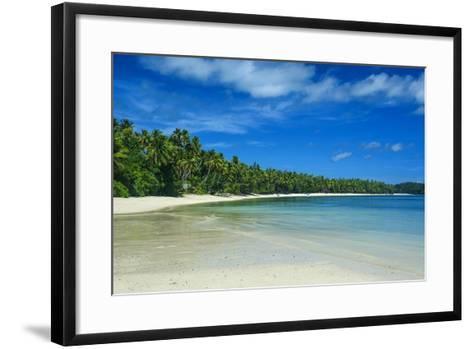 White Sand Beach and Turquoise Water at the Nanuya Lailai Island, the Blue Lagoon, Yasawa, Fiji-Michael Runkel-Framed Art Print