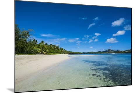 White Sand Beach and Turquoise Water at the Nanuya Lailai Island, Blue Lagoon, Yasawa, Fiji-Michael Runkel-Mounted Photographic Print