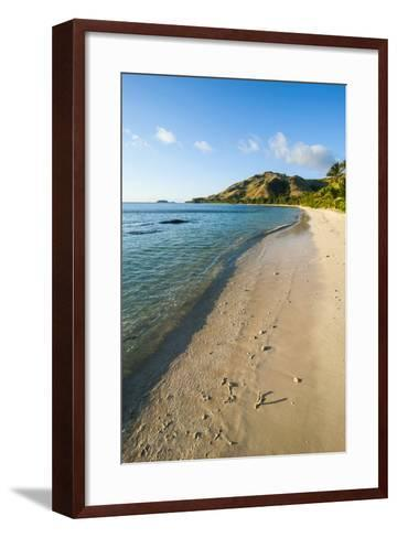 White Sandy Beach, Oarsman Bay, Yasawa, Fiji, South Pacific-Michael Runkel-Framed Art Print