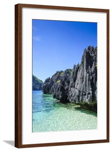 Clear Water in the Bacuit Archipelago, Palawan, Philippines-Michael Runkel-Framed Art Print