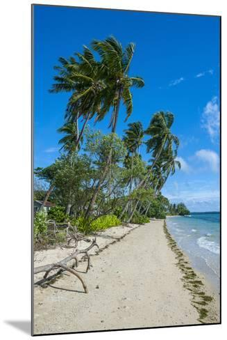 Palm Fringed White Sand Beach on an Islet of Vava'U Islands, Tonga, South Pacific-Michael Runkel-Mounted Photographic Print