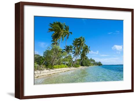 Palm Fringed White Sand Beach on an Islet of Vava'U, Tonga, South Pacific-Michael Runkel-Framed Art Print