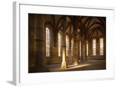 Germany, Baden-Wurttemburg, Maulbronn, Kloster Maulbronn Abbey, Cloister-Walter Bibikow-Framed Art Print