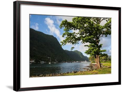 Pago Pago Bay, Tutuila Island, American Samoa, South Pacific-Michael Runkel-Framed Art Print