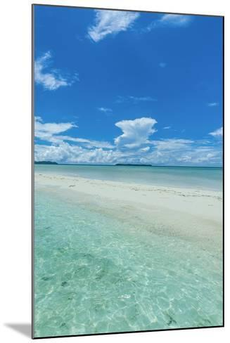 Little Sand Strip Appearing in Low Tide at the Rock Islands, Palau, Central Pacific-Michael Runkel-Mounted Photographic Print