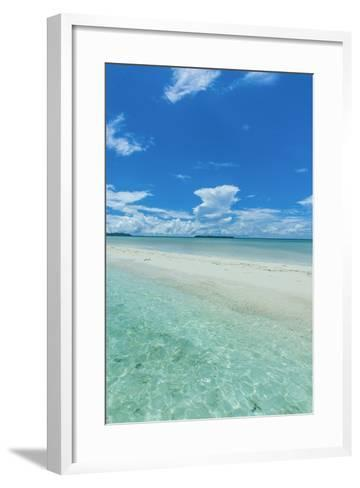 Little Sand Strip Appearing in Low Tide at the Rock Islands, Palau, Central Pacific-Michael Runkel-Framed Art Print