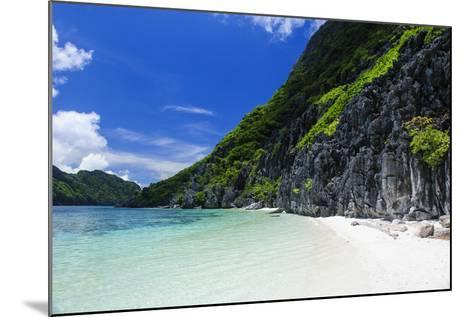 Little White Sand Beach in the Clear Waters of the Bacuit Archipelago, Palawan, Philippines-Michael Runkel-Mounted Photographic Print