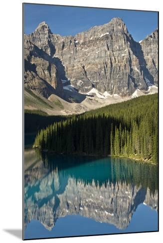 Morning, Moraine Lake, Reflection, Canadian Rockies, Banff National Park, Alberta, Canada-Michel Hersen-Mounted Photographic Print