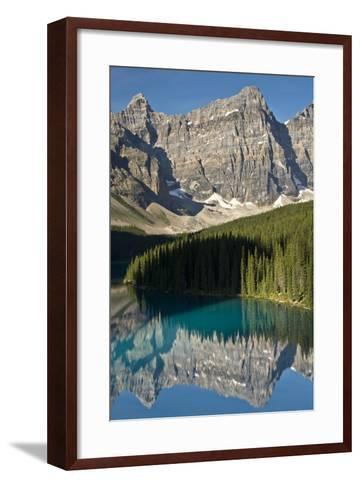 Morning, Moraine Lake, Reflection, Canadian Rockies, Banff National Park, Alberta, Canada-Michel Hersen-Framed Art Print