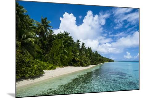 Paradise White Sand Beach in Turquoise Water in the Ant Atoll, Pohnpei, Micronesia-Michael Runkel-Mounted Photographic Print