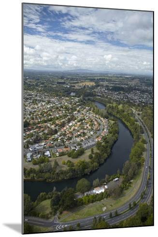 Waikato River and Cobham Drive, Hamilton, Waikato, North Island, New Zealand, Aerial-David Wall-Mounted Photographic Print