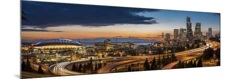 Washington, Seattle. Sweeping Sunset View over Downtown Seattle-Gary Luhm-Mounted Photographic Print