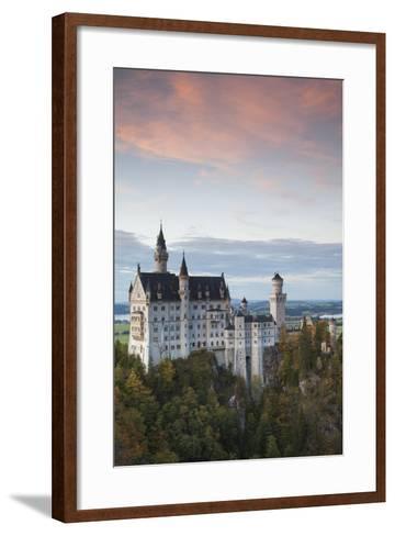 Germany, Bavaria, Hohenschwangau, Castle, Marienbrucke Bridge View, Dusk-Walter Bibikow-Framed Art Print