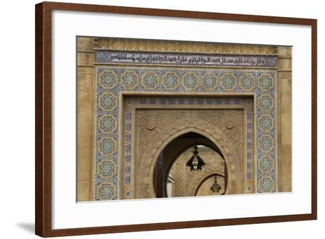 Morocco, Rabat. Ornate Gate of Royal Palace of Rabat-Kymri Wilt-Framed Art Print