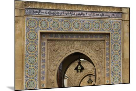 Morocco, Rabat. Ornate Gate of Royal Palace of Rabat-Kymri Wilt-Mounted Photographic Print