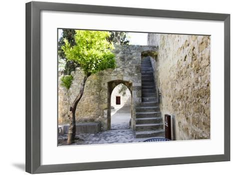 Portugal, Lisbon. Stairway Inside the Walls of the Sao Jorge Castle-Emily Wilson-Framed Art Print
