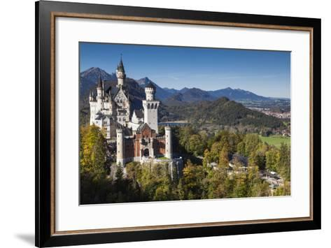 Germany, Bavaria, Hohenschwangau, Elevated View of a Castle in the Fall-Walter Bibikow-Framed Art Print