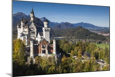Germany, Bavaria, Hohenschwangau, Elevated View of a Castle in the Fall-Walter Bibikow-Mounted Photographic Print