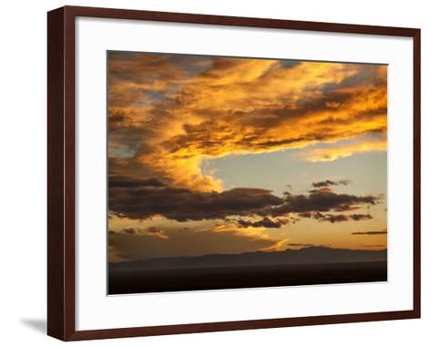 USA, Colorado, San Juan Mountains. Sunset across the San Luis Valley-Ann Collins-Framed Art Print