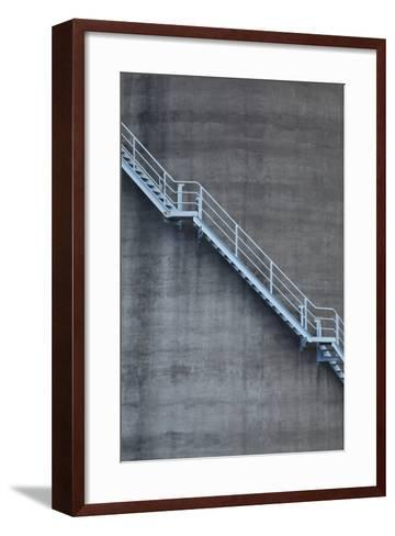 Stairs on Old Silo at Silo Park, Wynyard Quarter, Auckland, North Island, New Zealand-David Wall-Framed Art Print