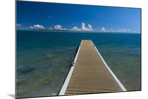 Pier with Cocos Island in the Background, Guam, Us Territory, Central Pacific-Michael Runkel-Mounted Photographic Print