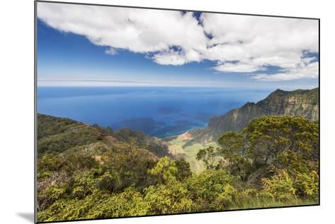 Hawaii, Kauai, Kokee State Park, View of the Kalalau Valley from Kalalau Lookout-Rob Tilley-Mounted Photographic Print