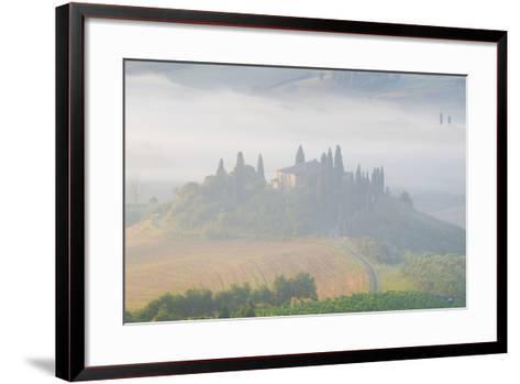 Italy, Tuscany. Belvedere House in Morning Fog-Jaynes Gallery-Framed Art Print