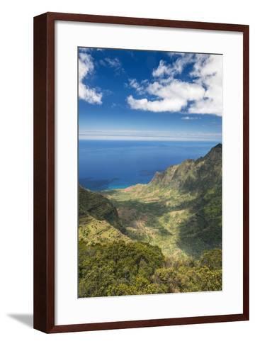 Hawaii, Kauai, Kokee State Park, View of the Kalalau Valley from Pu'U O Kila Lookout-Rob Tilley-Framed Art Print