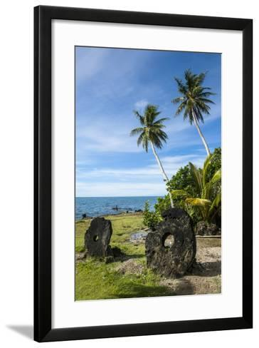 Stone Money on the Island of Yap, Micronesia-Michael Runkel-Framed Art Print