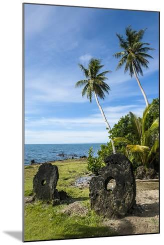 Stone Money on the Island of Yap, Micronesia-Michael Runkel-Mounted Photographic Print