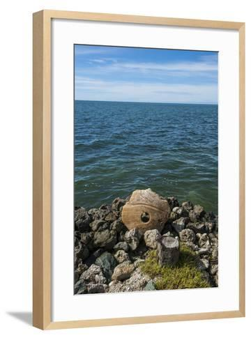 Stone Money on the Island of Yap, Micronesia-Michael Runkel-Framed Art Print