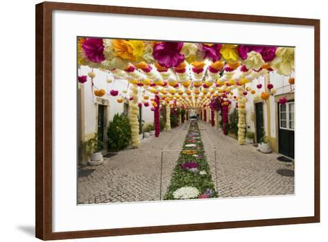 Trays Festival, Neighborhoods are Colorfully Decorated with Paper Flowers and Garlands-Emily Wilson-Framed Art Print