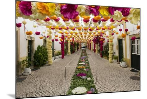 Trays Festival, Neighborhoods are Colorfully Decorated with Paper Flowers and Garlands-Emily Wilson-Mounted Photographic Print
