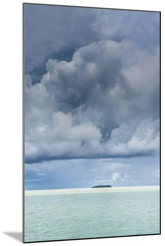 Dramatic Sky over a Little Island in the Rock Islands, Palau, Central Pacific-Michael Runkel-Mounted Photographic Print