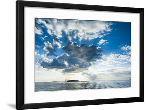 Dramatic Clouds at Sunset over the Mamanucas Islands, Fiji, South Pacific-Michael Runkel-Framed Art Print