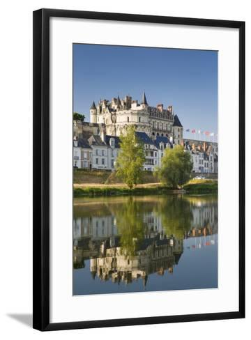 Early Morning Below Chateau D'Amboise, Amboise, Indre-Et-Loire, Centre, France-Brian Jannsen-Framed Art Print