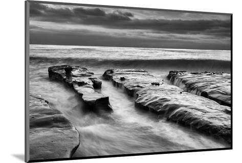 USA, California, La Jolla, Rising Tide and Waves at Coast Blvd at Dusk-Ann Collins-Mounted Photographic Print