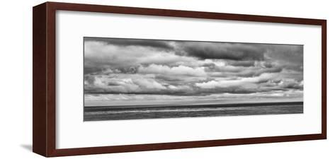 USA, California, San Diego, Panoramic Black-And-White View of Clouds over Pacific Ocean-Ann Collins-Framed Art Print