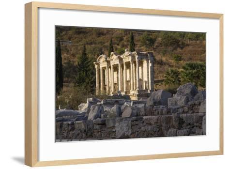 Turkey, Izmir, KUSAdasi. Ephesus, the Temple of Artemis-Emily Wilson-Framed Art Print